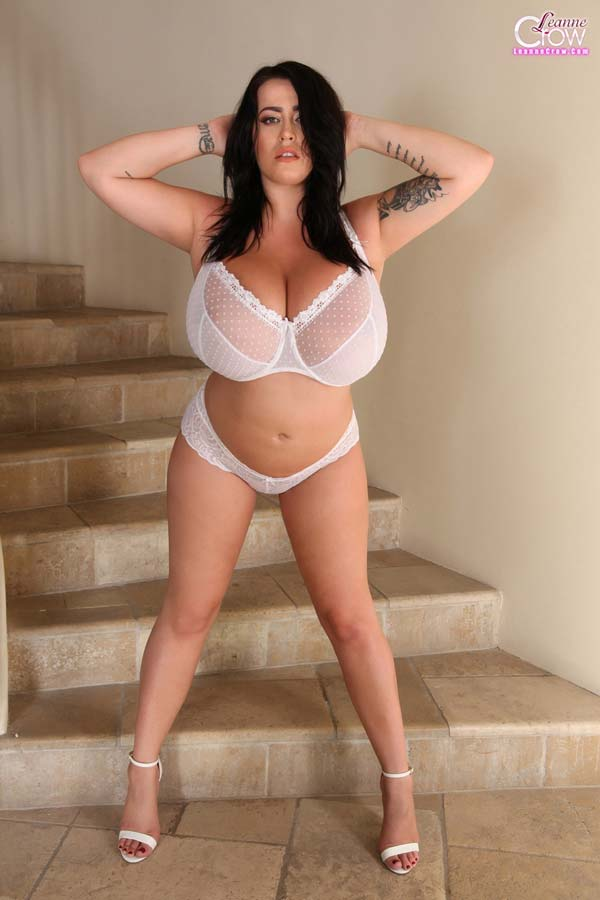 huge-breasted-leanne-crow-in-white-lingerie-at-the-stairs15