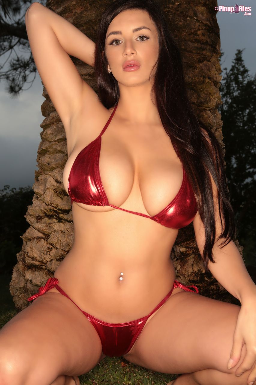 Cara Ruby in red bikini – The Boobs Blog