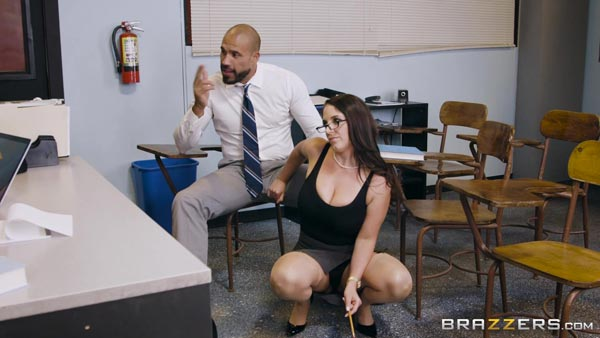 Brazzers blond busty secretary alexis ford fucks her boss - 1 part 6