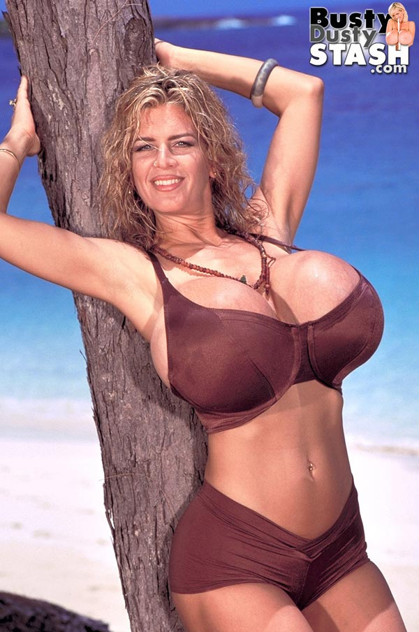 busty-dusty-in-brown-bikini-at-the-beach01