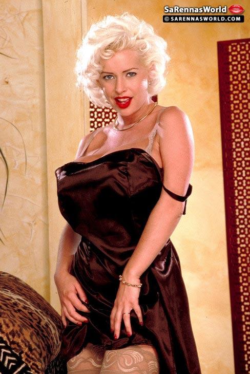 SaRenna Lee massive tits in a sexy slicky black dress ...
