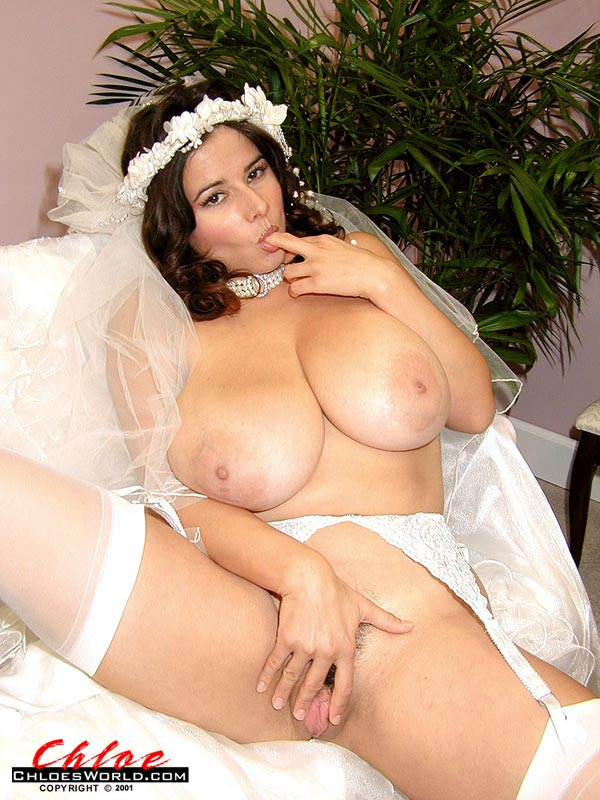 brides in lingerie boobs out