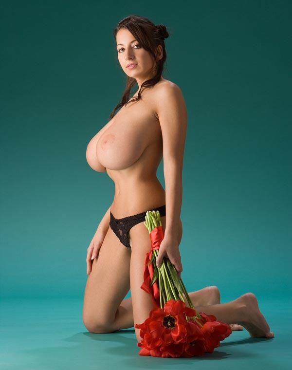 Perky naked nipples