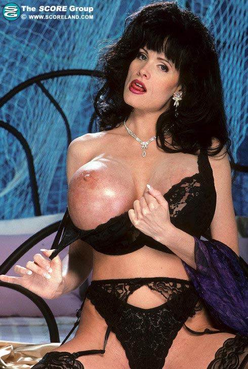 Big boobs red latex glovers - 3 1