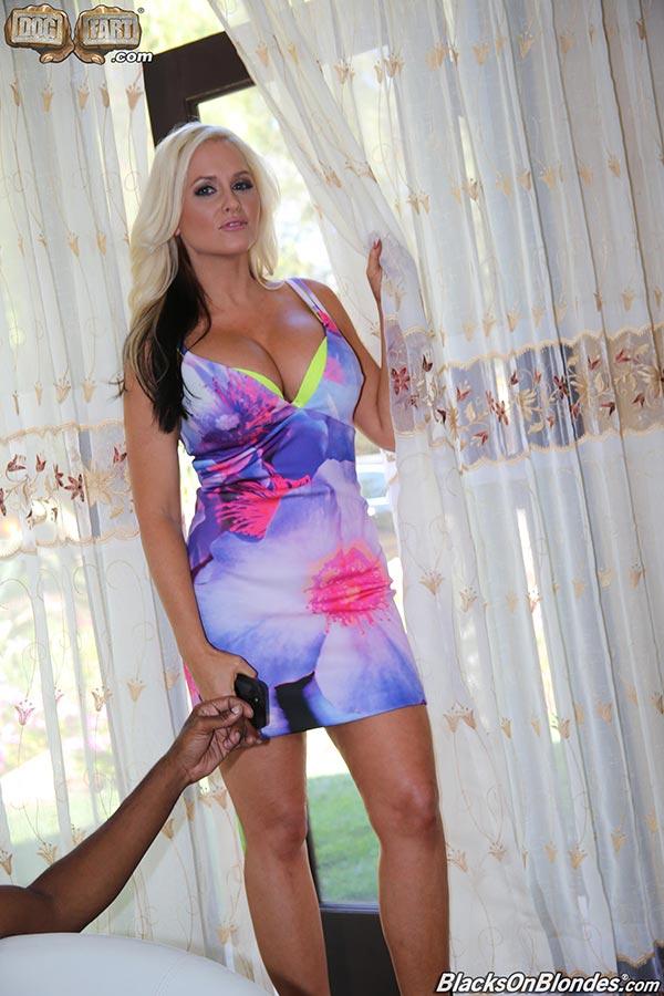 Busty blonde wife Alena Croft interracial gangbang - The
