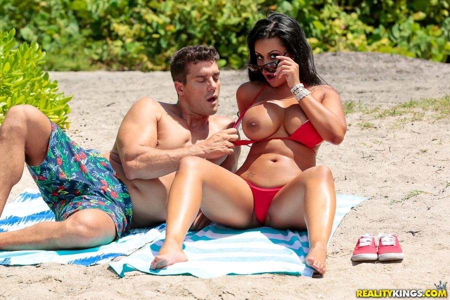 Busty bikini beach fuck any more