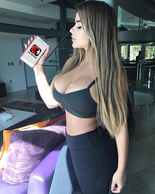 image Hot blonde girl cheater caught doing