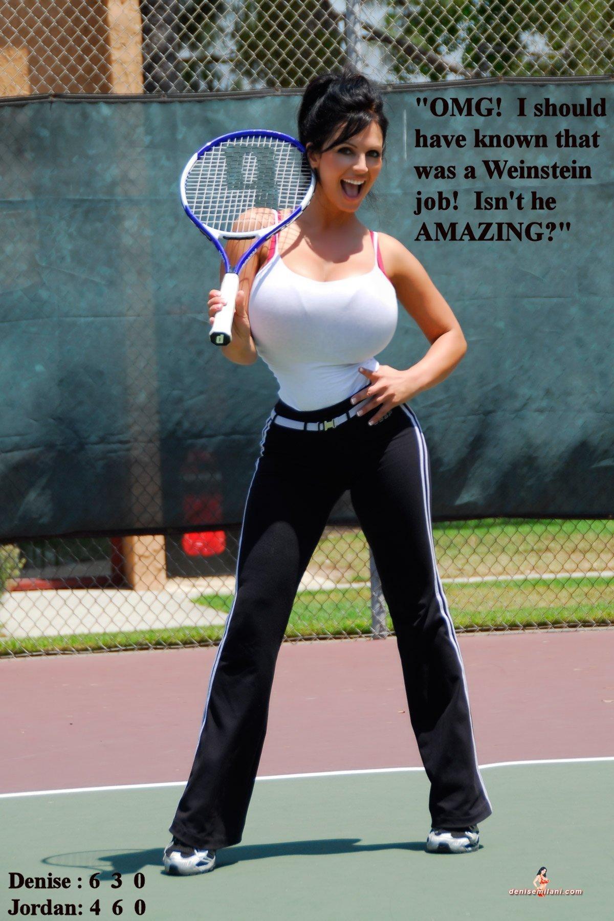 Tennis tits under
