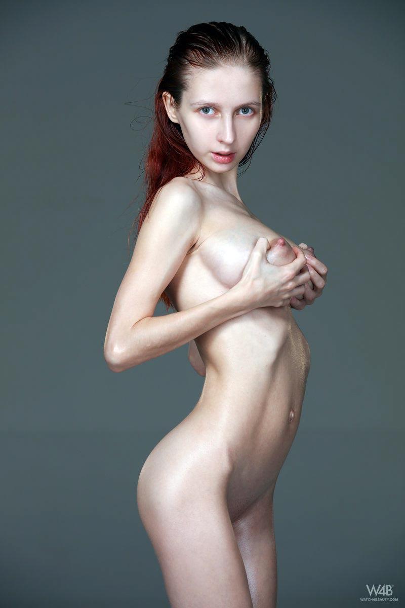 Fascinating babe with big boobs masturbates passionately
