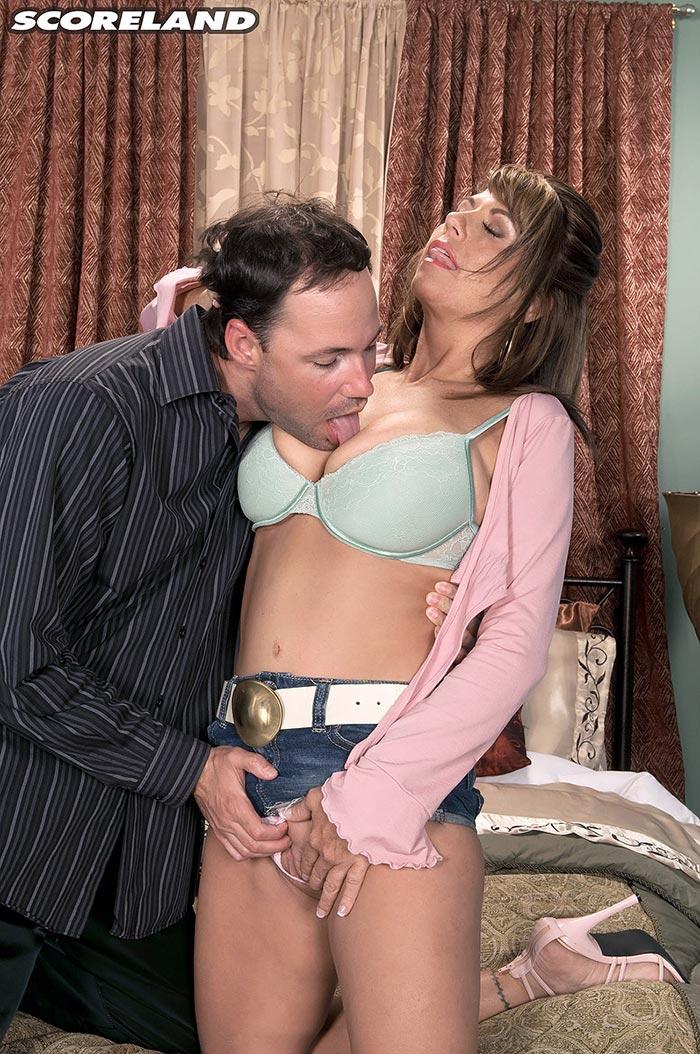 Dick licking slut