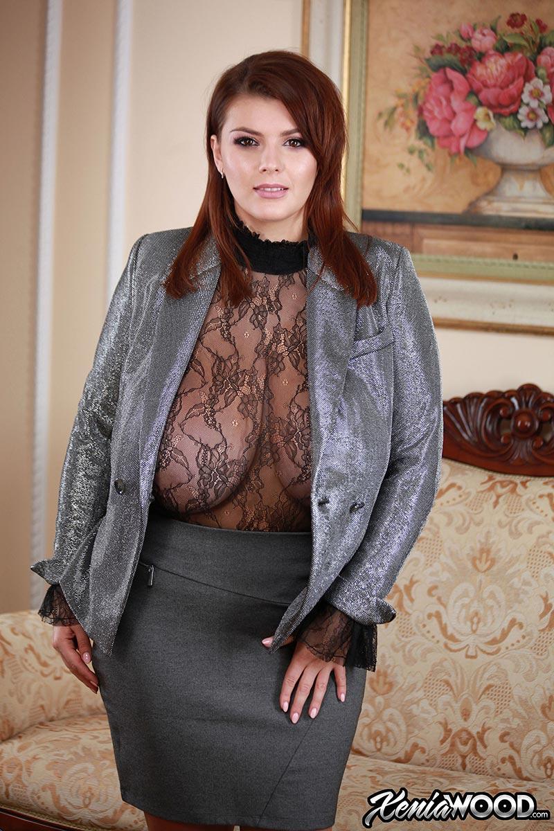 Full breasted european brunette for the tease 1
