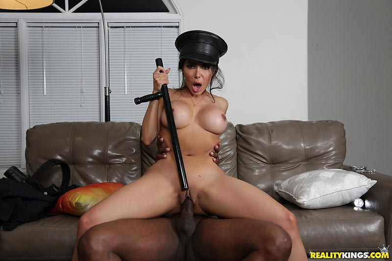A nasty ebony police officer enojys pussy licking with her lesbian partner 10