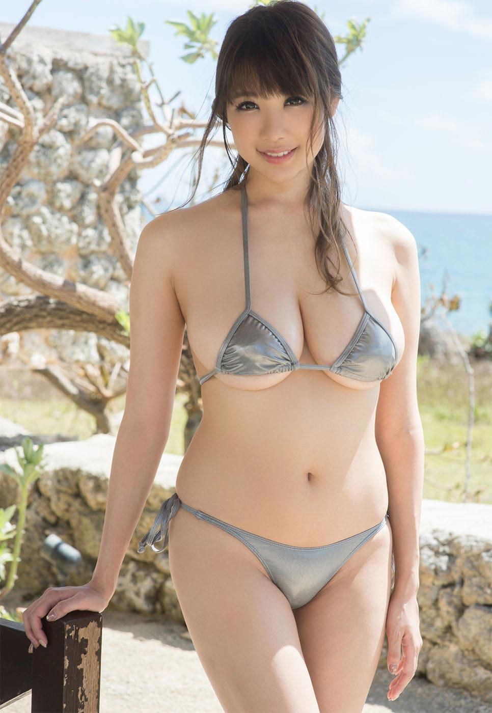 Busty asian bikini