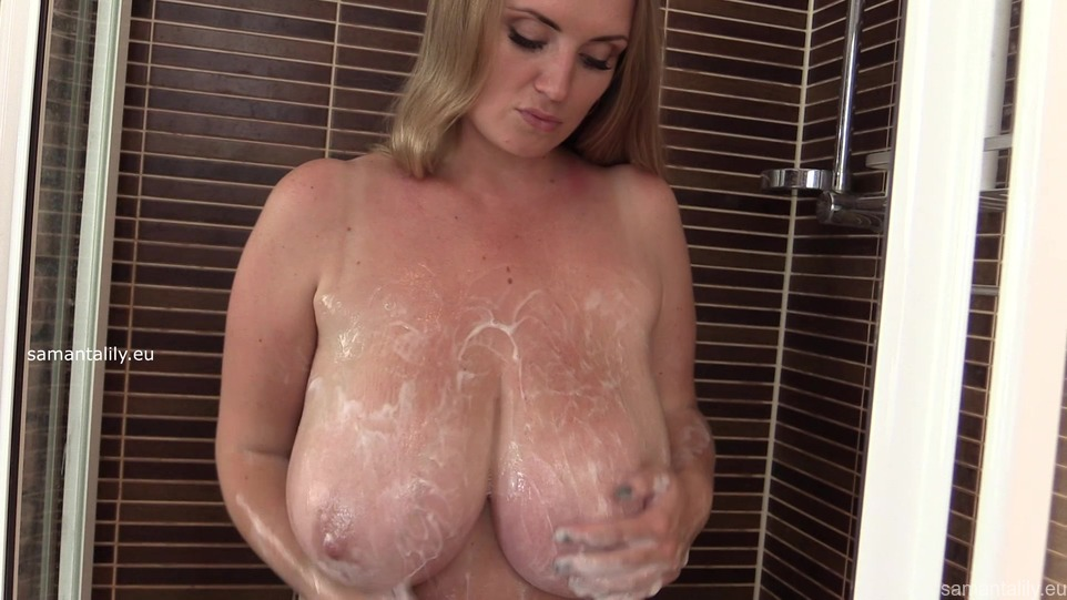 Maria Body Rubbing Her Massive Tits In The Shower The Boobs Blog
