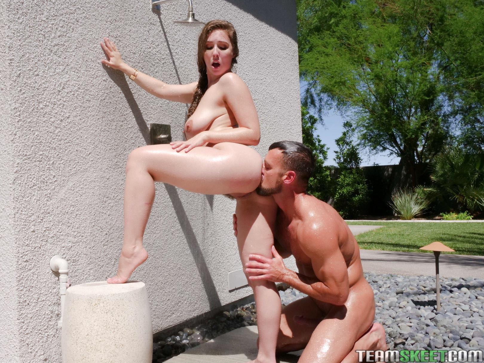 Lena paul fucked by the pool