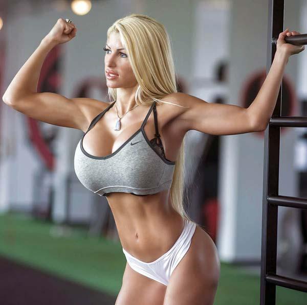 Big tits fitness