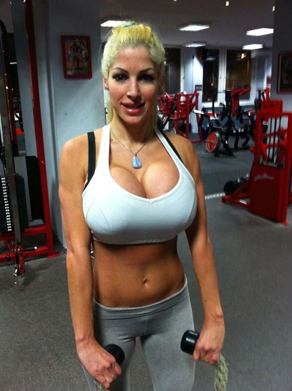 big boob fitness model
