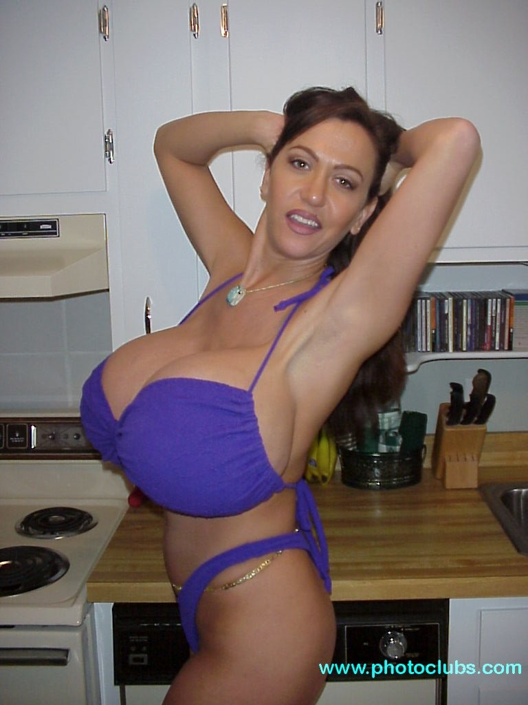 Busty Legend Casey James In Purple Bikini  The Boobs Blog-6360