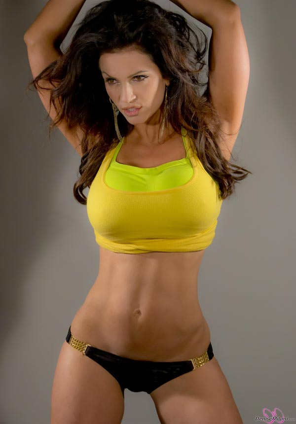 denise-milani-in-a-yellow-top08