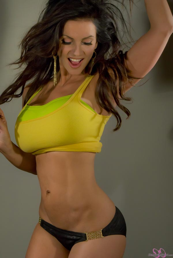 denise-milani-in-a-yellow-top17