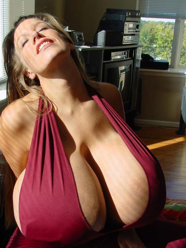 Chelsea Charms Huge Cleavage In Sexy Maroon Outfit  The -4083