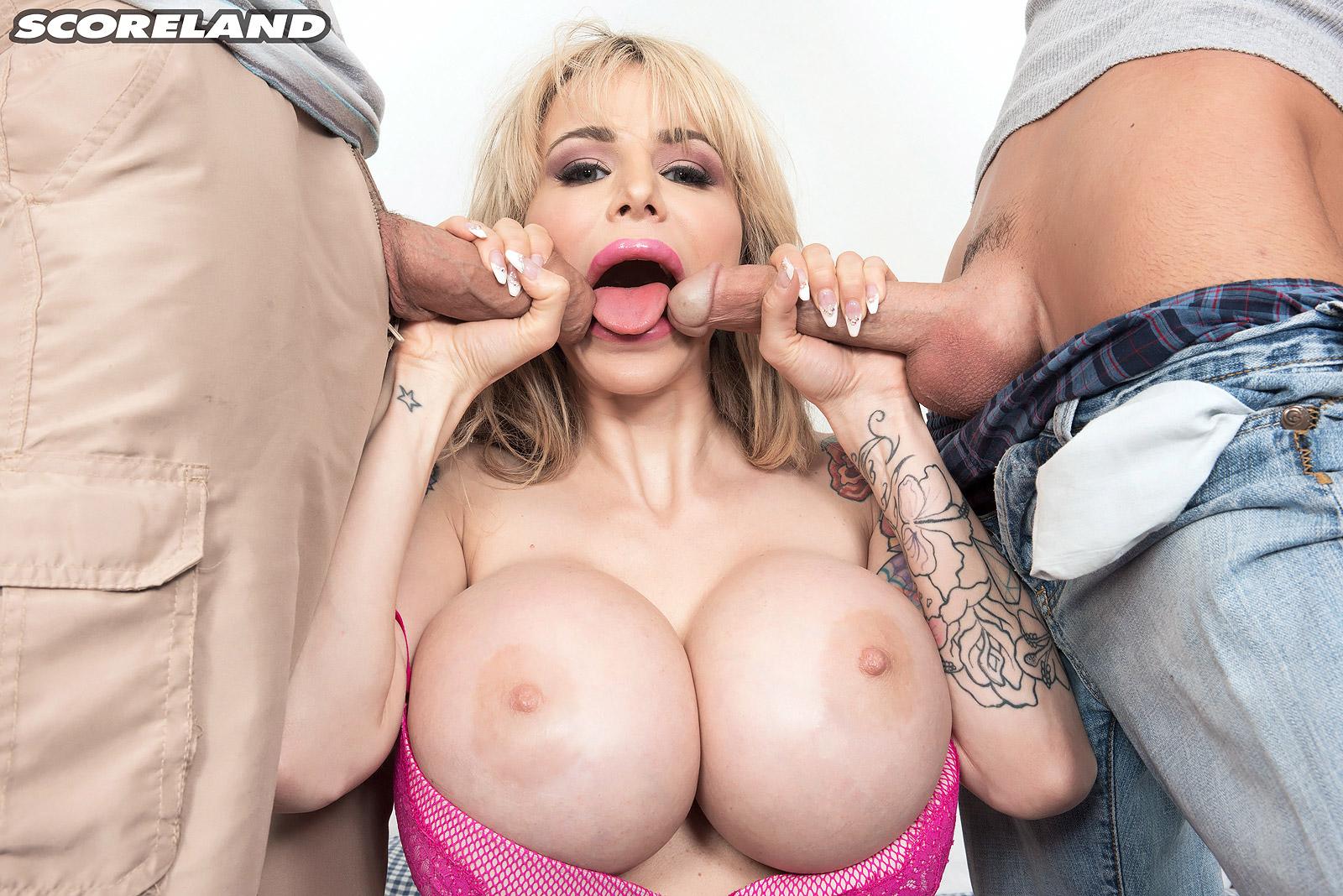 Big Tits Danielle Derek Cock Sucking Scene