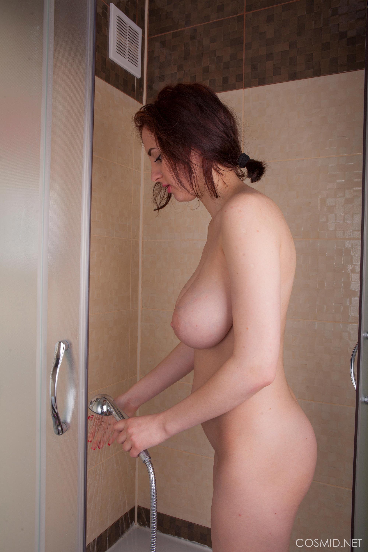 Adriana Tella in the shower being flirty – The Boobs Blog