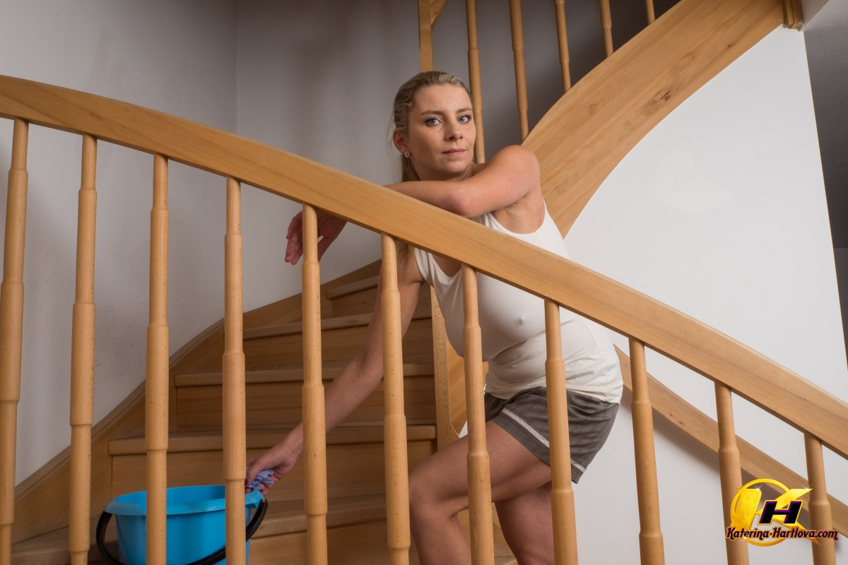 Outinpublic Staircase Porn katerina hartlova cleaning up the stairs – the boobs blog