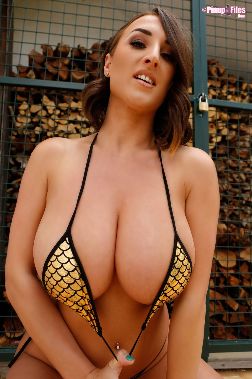 Stacey Poole in a sexy Spider Web Bikini - The Boobs Blog